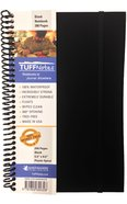 Tuffnotes Waterproof Notebook, Black, Blank Spiral
