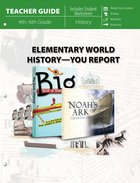 Elementary World History - You Report! (Teacher Guide) Paperback