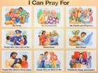 Wall Chart: I Can Pray For (Laminated)