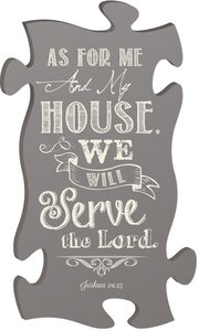 Puzzle Pieces Wall Art: As For Me and My House... Joshua 24:15