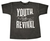 T-Shirt: Youth Revival Extra Small, Black/White Writing