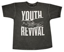 T-Shirt: Youth Revival Small, Black/White Writing