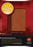 NLT Study Bible Personal Size Brown/Tan (Black Letter Edition)