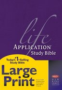 NKJV Life Application Study Bible Large Print 2nd Edition (Red Letter Edition) Hardback