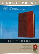 NLT Premium Slimline Reference Bible Large Print Brown/Tan Indexed (Red Letter Edition) Imitation Leather