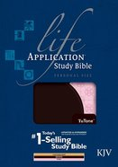 KJV Life Application Study Bible Personal Size Indexed Brown/Pink (Black Letter Edition)