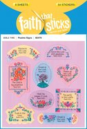 Psalms Signs (6 Sheets, 54 Stickers) (Stickers Faith That Sticks Series)