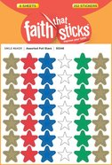 Assorted Foil Stars (6 Sheets, 252 Stickers) (Stickers Faith That Sticks Series)
