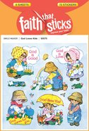 God Loves Kids (6 Sheets, 72 Stickers) (Stickers Faith That Sticks Series) Stickers