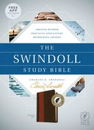 NLT the Swindoll Study Bible Brown Tan Indexed
