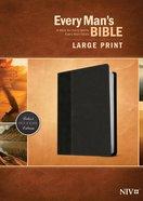 NIV Every Man's Bible Large Print Onyx/Black (Black Letter Edition) Imitation Leather