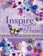 NLT Inspire Praise Bible Purple Garden Leatherlike