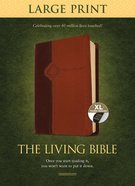 Lbp Living Bible Large Print Edition Brown/Tan Indexed (Black Letter Edition)