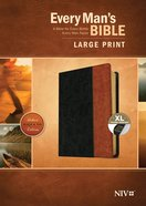 NIV Every Man's Bible Large Print Black/Tan Indexed (Black Letter Edition) Imitation Leather