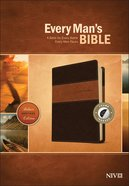 NIV Every Man's Bible Deluxe Heritage Edition Brown/Tan Indexed (Black Letter Edition) Imitation Leather