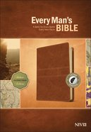 NIV Every Man's Bible Deluxe Journeyman Edition Burnt Khaki Indexed (Black Letter Edition) Imitation Leather