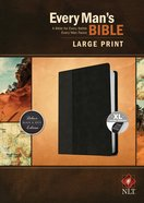 NLT Every Man's Bible Large Print Black/Onyx Indexed (Black Letter Edition)