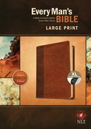 NLT Every Man's Bible Large Print Brown/Tan Indexed (Black Letter Edition) Imitation Leather