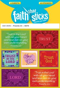 Proverbs 3:5 (6 Sheets, 42 Stickers) (Stickers Faith That Sticks Series)