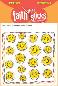 Sunbeam Smiles (6 Sheets, 102 Stickers) (Stickers Faith That Sticks Series)