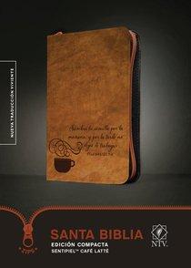 Ntv Santa Biblia Edicion Compacta Coffee Latte With Zipper (Black Letter Edition)