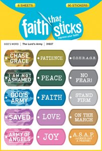 The Lords Army (6 Sheets, 90 Stickers) (Stickers Faith That Sticks Series)