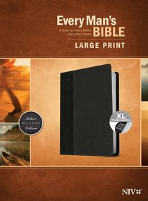NIV Every Mans Bible Large Print Onyx/Black Indexed (Black Letter Edition)