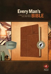 NLT Every Mans Bible Deluxe Messenger Edition Brown Indexed (Black Letter Edition)