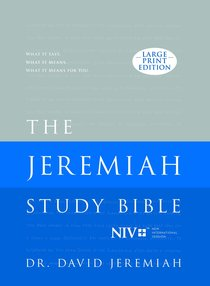 NIV Jeremiah Study Bible, the Large Print