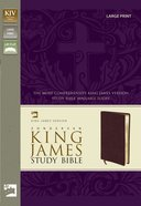 KJV Study Bible Large Print Edition Burgundy Bonded Leather