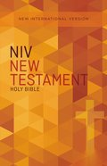 NIV Outreach New Testament Orange Cross (Black Letter Edition) Paperback