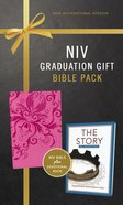 NIV Graduation Gift Bible Pack For Her Pink Includes 365 Day Devotional the Story Red Letter Edition