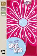 KJV Bible For Kids Pink Thinline Edition (Red Letter Edition) Premium Imitation Leather