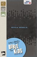 KJV Bible For Kids Charcoal Thinline Edition (Red Letter Edition)