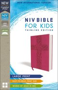 NIV Bible For Kids Large Print Pink Red Letter Edition