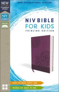 NIV Bible For Kids Purple Red Letter Edition