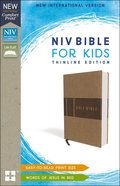 NIV Bible For Kids Tan Red Letter Edition