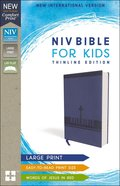 NIV Bible For Kids Large Print Blue Red Letter Edition
