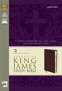 KJV Study Bible Large Print Edition Burgundy