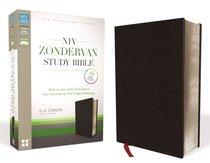 NIV Zondervan Study Bible Full Colour Black Bonded Leather