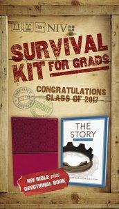 NIV 2017 Survival Kit For Grads Girls Edition Burgundy Red Letter Edition