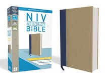NIV Thinline Bible Giant Print Blue/Tan Red Letter Edition