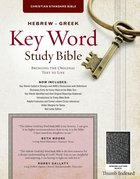 CSB Hebrew-Greek Key Word Study Bible Black Indexed (Red Letter Edition) Genuine Leather