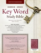 CSB Hebrew-Greek Key Word Study Bible Burgundy (Red Letter Edition) Genuine Leather