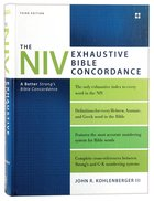The NIV Exhaustive Bible Concordance (Third Edition) Hardback