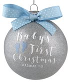 Christmas Glass Ornament Special Moments: Baby's First Christmas, Blue (Jeremiah 1:5)