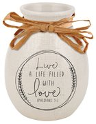 Ceramic Vase Hand Drawn Doodles: Love (Ephesians 5:2) Homeware