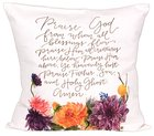 Gracelaced Doxology: Pillow, White/Colored Floral Arrangement Under Doxology Soft Goods