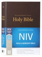 NIV Pew and Worship Bible Brown (Black Letter Edition) Hardback