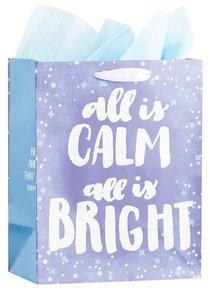 Christmas Gift Bag Medium: Frozen & Bright, All is Calm All is Bright (Psalm 46:10 Kjv)
